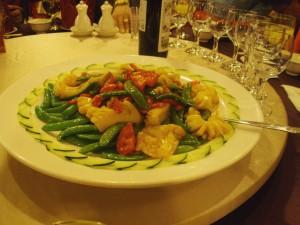 Dish 1 - Snow Peas and Squid