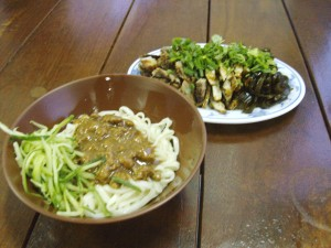 Zha Jiang Mian + Side Dishes
