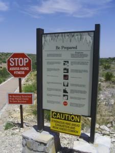 Hiking Warning